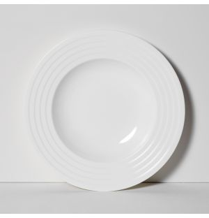 Fine Dining Relief Soup Plate