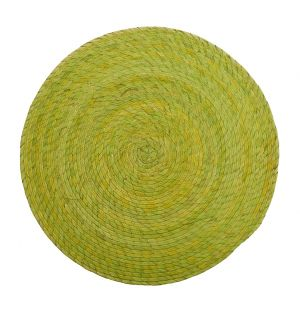 Round Woven Placemat Green