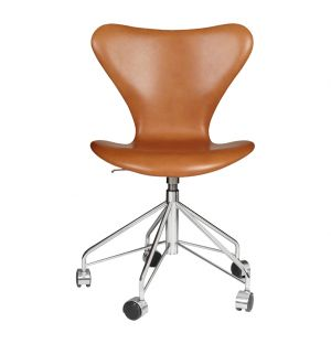 Series 7 Swivel Chair Grace Leather Walnut