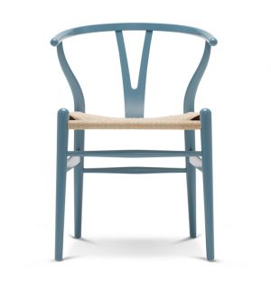 CH24 Wishbone Chair Coloured Wooden Frame & Natural Paper Cord Seat