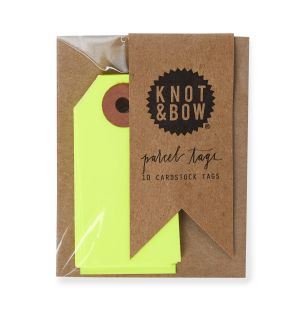 Gift Tags in Neon Yellow Set of 10