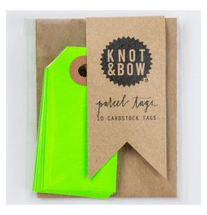 Gift Tags in Neon Green Set of 10