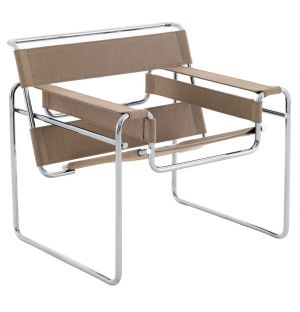 Wassily Lounge Chair Natural Canvas