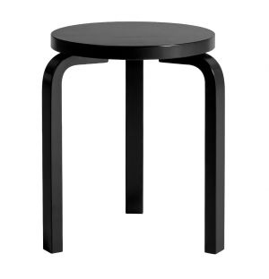 Stool 60 Black Lacquered