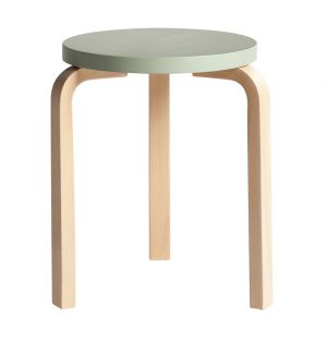 Stool 60 Seat Lacquered Green