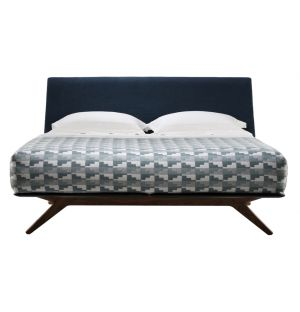 Hepburn Bed Walnut Queen Size