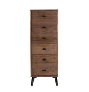 McQueen Tall Chest Walnut