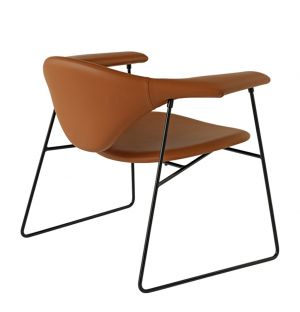 Masculo Lounge Chair Sierra Leather Cognac