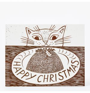 Cat Christmas Cards Set of 5