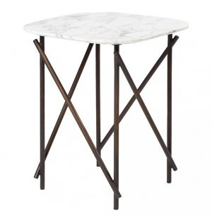 Workshop Lamp Table Marble