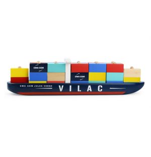 Wooden Container Ship