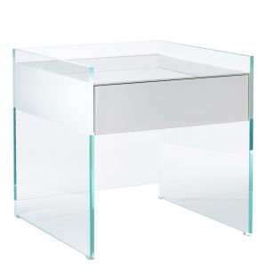 Float Bedside Table White