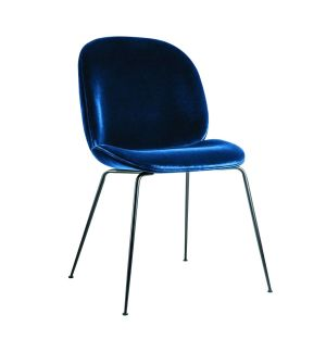 Beetle Dining Chair Velvet With Black Legs