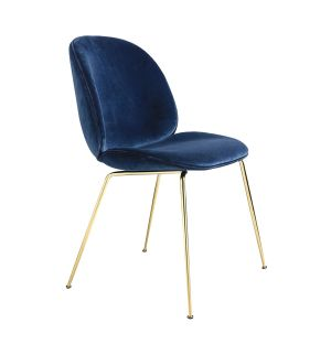 Beetle Dining Chair Velvet With Brass Legs