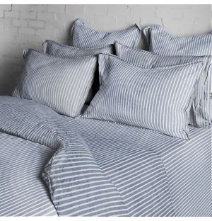 Blue Stripe Bed Linen Collection