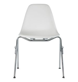 DSS-N Plastic Stacking Side Chair Chrome Base