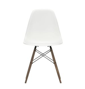 DSW Plastic Side Chair Dark Maple Base