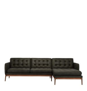 Elgin Button Corner Sofa Right Facing