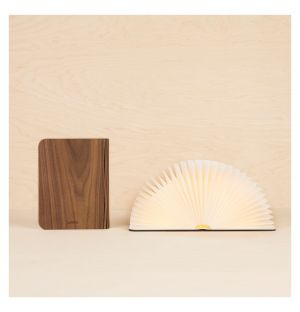 Lumio Book Lamp Classic Dark Walnut