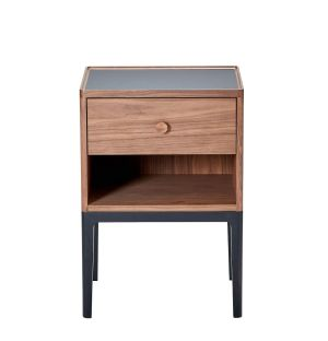 Monument 1-Drawer Bedside Table with Niche