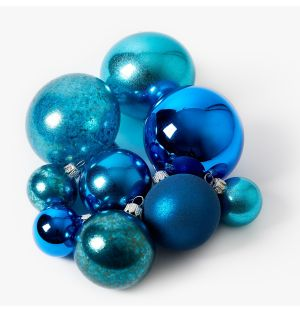 Blue Christmas Tree Decoration Collection