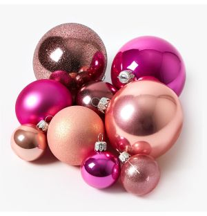 Pink Christmas Tree Decoration Collection