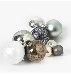 Silver Grey Christmas Tree Decoration Collection