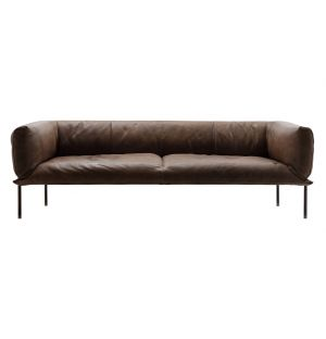 Rondo Sofa Grey Brown 3-Seater