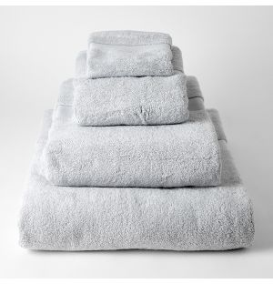 Premium Terry Towel Collection in Soft Grey