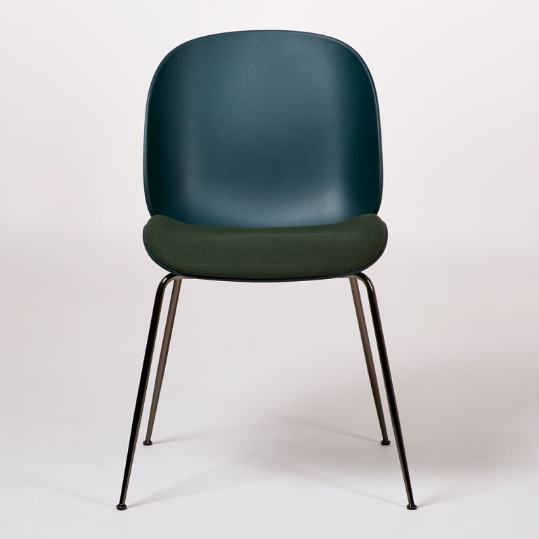 Beetle Dining Chair Upholstered Seat Green Black By Gubi At The Conran Shop