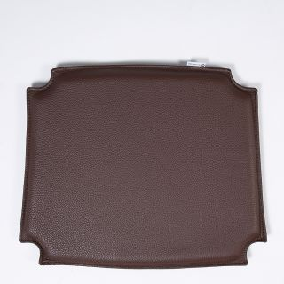 CH24 Wishbone Chair Leather Seat Pad in Brown