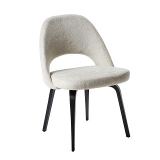 Conference Side Chair in Colorado Sand & Ebonised Wood