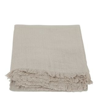 Double Weave Crinkle Bedspread in Natural 220cm x 240cm