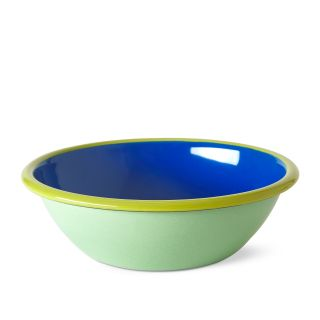 Large Bowl in Electric Blue & Mint