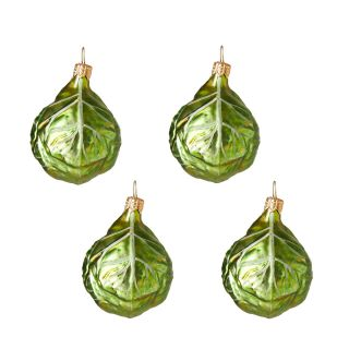 Sprout Christmas Tree Decorations Set of 4