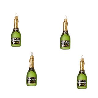 Champagne Christmas Tree Decorations Set of 4