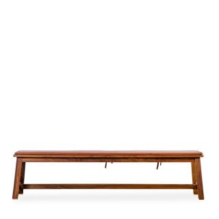 443 Bench in Danish Oiled Walnut with Leather Seat Pad